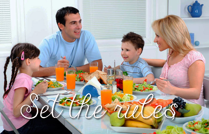 Getting-Your-Kids-To-Eat-Healthier-meal-time-rules