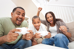 parent-Bond-With-Child-Playing-Video-Game