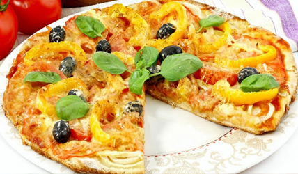 Healthy-Pizza-Option-Bell-Pepper-&-Olive-Pizza