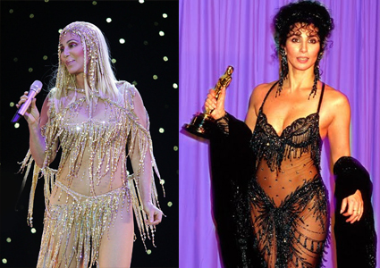 Musicians-Turned-Actors-cher-at-stage-at-oscar-ceremony