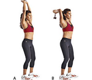 Tone-Up-Arms-Sandwich-Technique-Dumb-Bell-Triceps-Extension