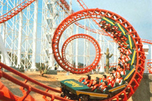 best-roller-coaster--Six-Flags-Magic-Mountain-theme-park