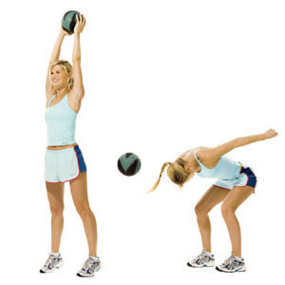 Exercise-For-Your-Chest-Medicine-Ball-Slam