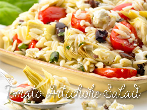 healthy-recipe-Tomato Artichoke Salad