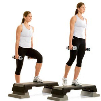 Tone-Your-Butt-Dumbbell-Step-Up