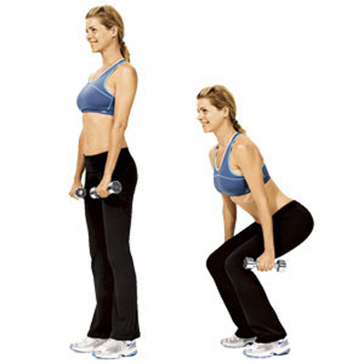 Tone-Your-Butt-Squats-With-Dumbbells